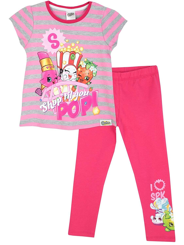 Girls short sleeve top and pirates leggings set