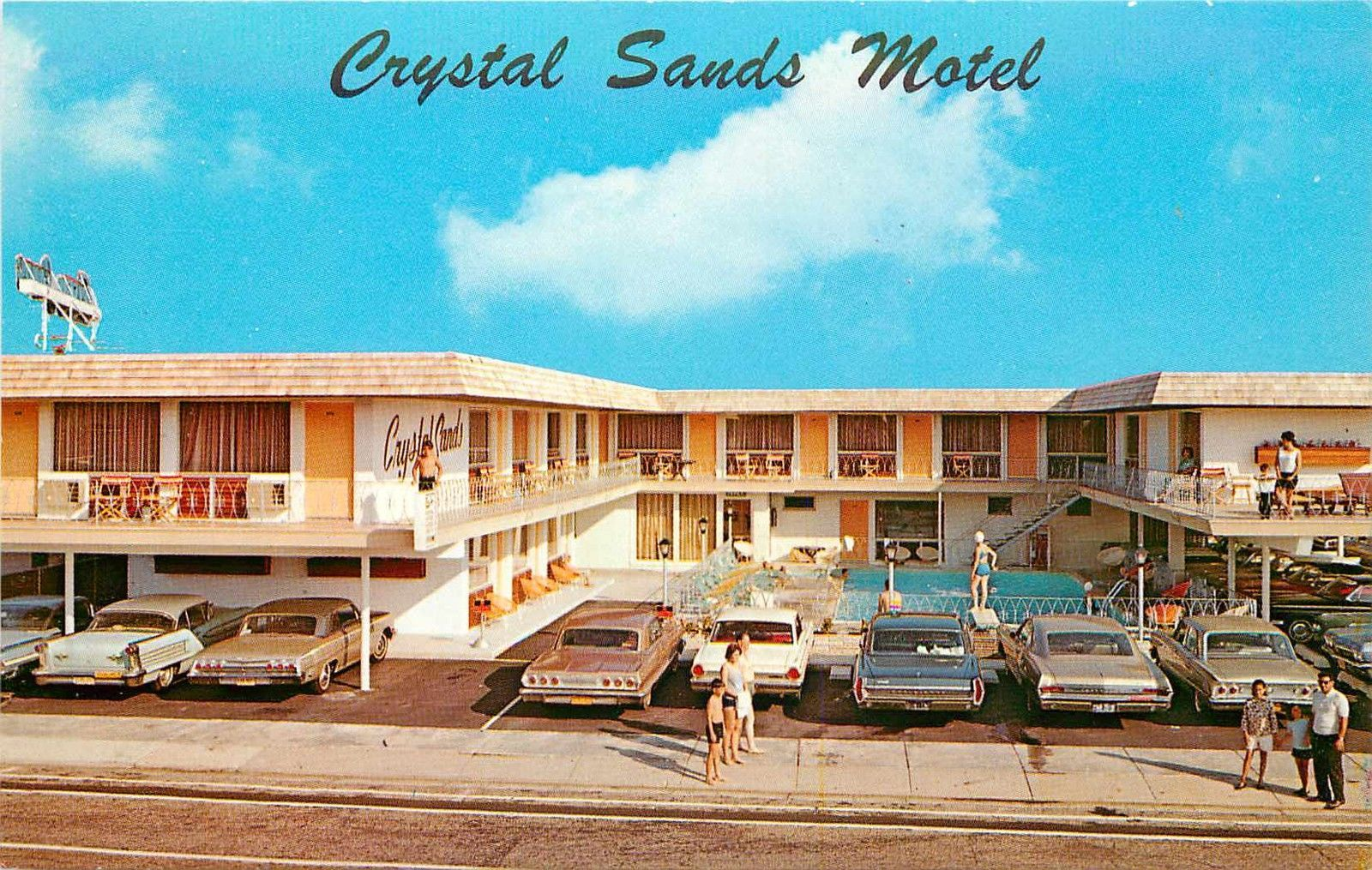 Rooms: Crystal Sands Motel, Wildwood, NJ, Circa 1965. The