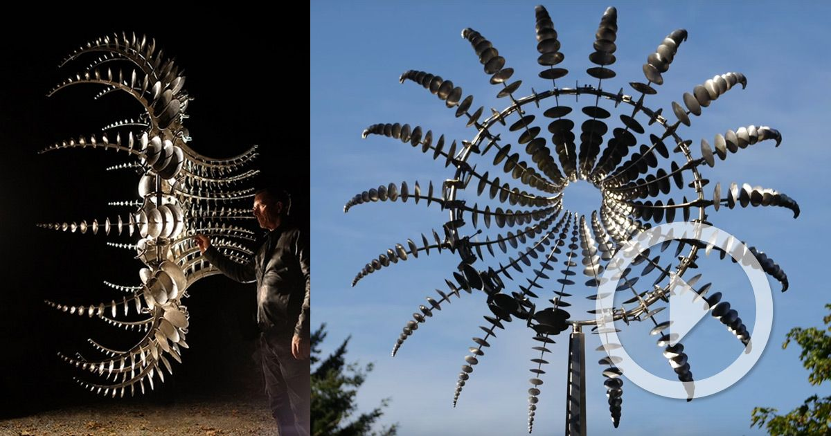 Hypnotic New Kinetic Sculptures by Anthony Howe (Colossal ...
