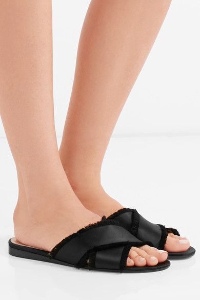 Gianvito Rossi Barth Slide Sandals discount official site sale free shipping T4KHs0Ax