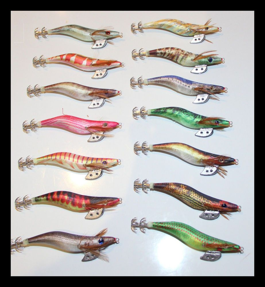 BULK PACK* 14pcs x EGI SQUID JIGS #Squid Jig shrimp baitfish BIG