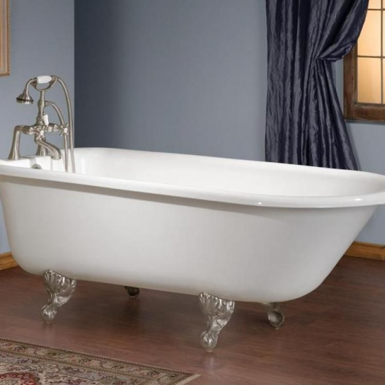 The Traditional Cast Iron Bath is a classic clawfoot tub for lovers of traditional fixtures. http://www.cheviotproducts.com/clawfoot-bathtubs/traditional-cast-iron-bath