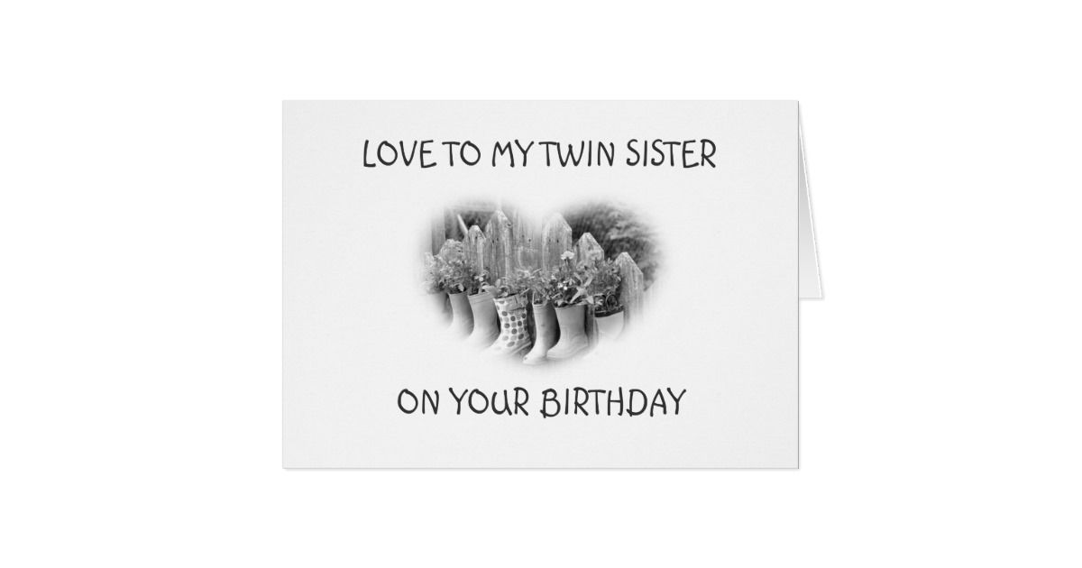 Ready To Celebrate Twin Sister On Birthday Card Zazzle Greeting
