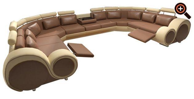 wohnzimmer leder luxus modernes sofa designer couch fürs wohnzimmer aus leder schwarz weiß braun schwarz