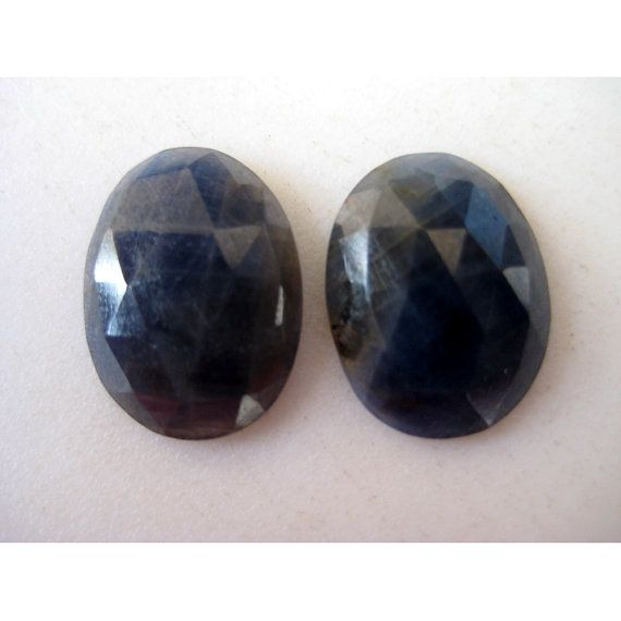 Blue Sapphire Rose Cut Sapphire Oval Shaped by gemsforjewels, $23.90