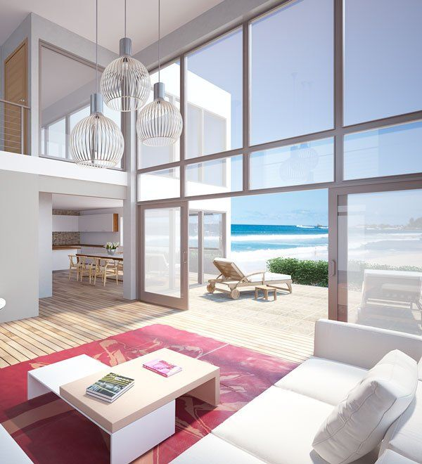 Modern Architecture Beach House beach house with huge windows, house design, modern architecture