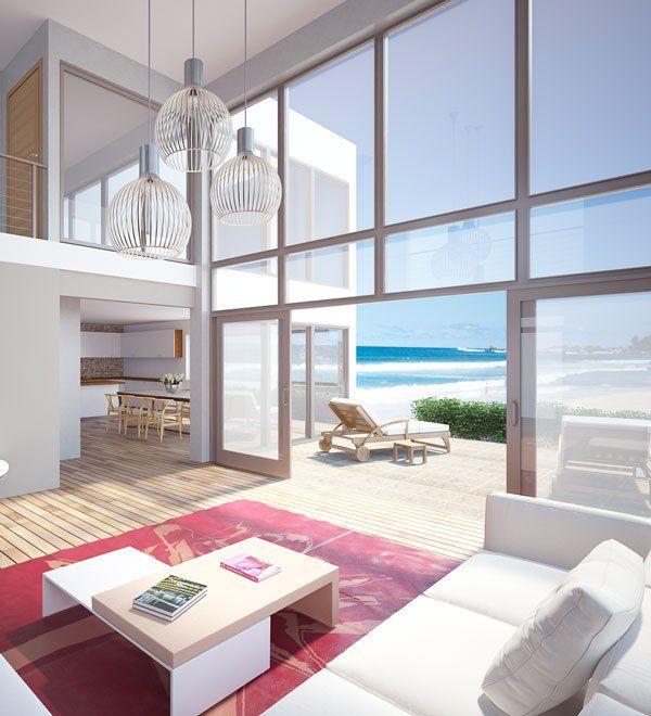 Modern Architecture Beach House beach house with huge windows, house design, modern architecture