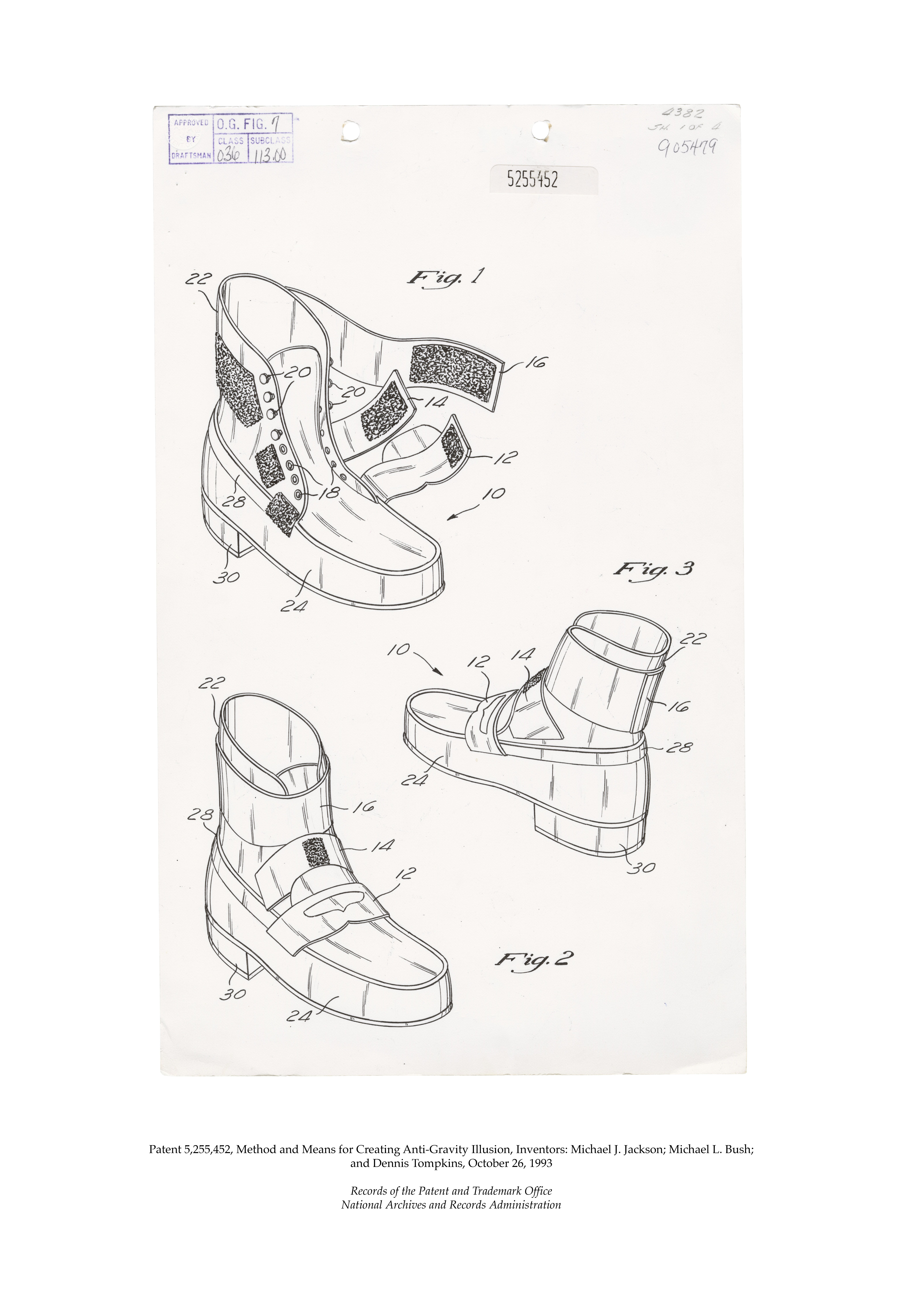 Michael Jackson's AntiGravity Illusion Shoes Patent