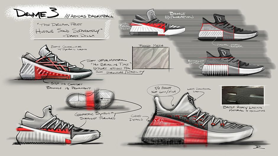 15661b8f06bf Damian Lillard s New adidas Signature Shoe Releases Tomorrow In All Red  Page 4 of 5 - SneakerNews.com