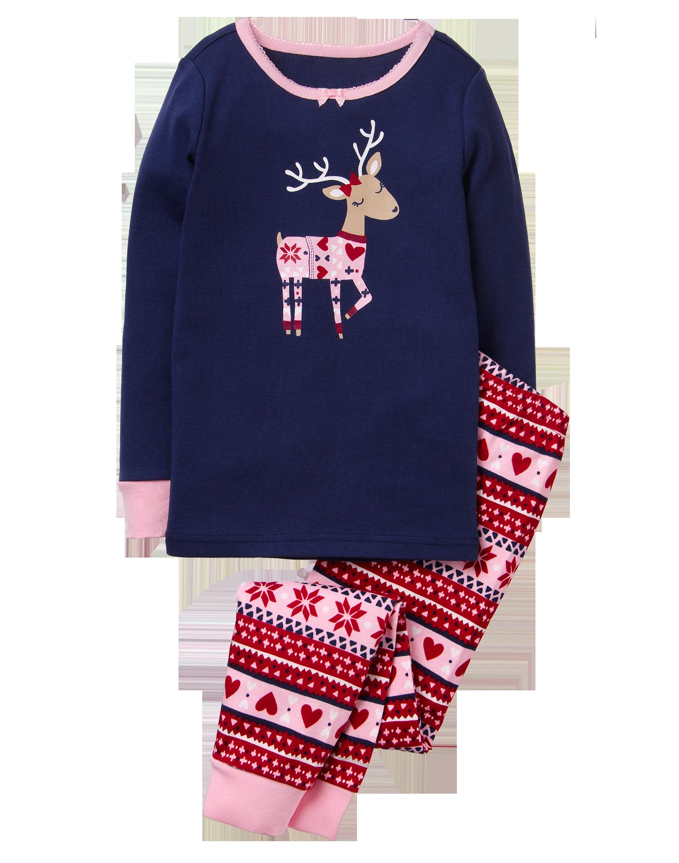 Reindeer Piece Gymmies  Cute Christmas Pajamas for