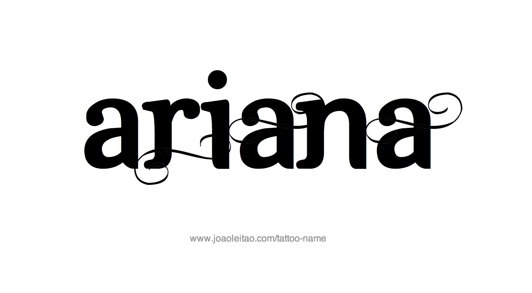 ariana name tattoo designs