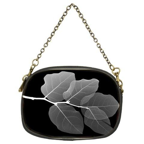 TheCityDesignGroup - Leaf Veins Black And White Negative Chain Purse Single-Side Design, $59.99 (http://thecitydesigngroup.com/products/leaf-veins-black-and-white-negative-chain-purse-single-side-design.html)