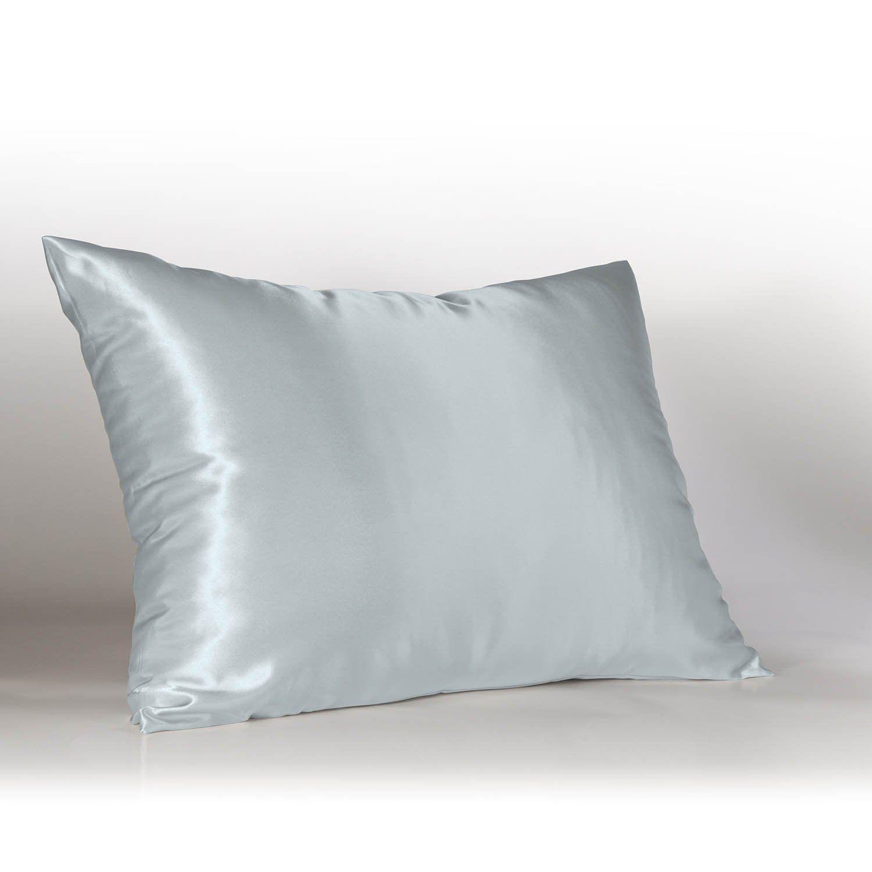 Amazon Com Sweet Dreams Luxury Satin Pillowcase With Zipper Standard Size Baby Blue Silky Satin Pillow Case For Pillow Cases Satin Pillowcase Satin Pillow