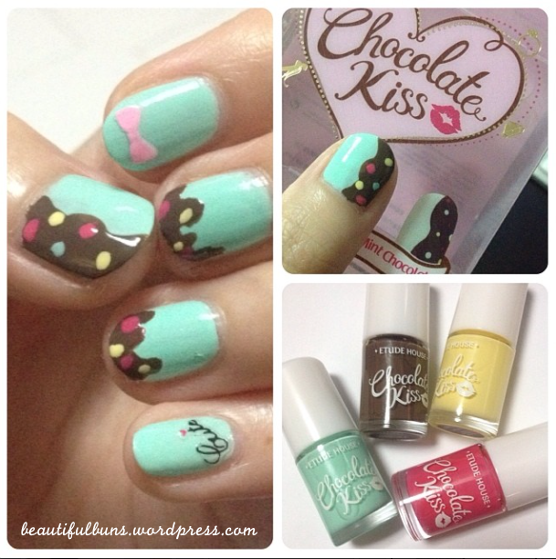 Review: Etude House Chocolate Kiss Nail Kit – #1 Mint Chocolate ...