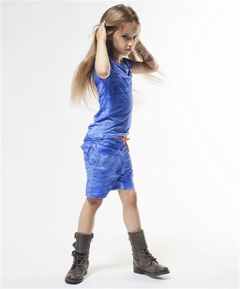 ++CZESIOCIUCH++ Shorts Blue, Shirt Blue ++ available at www.spruitkinderkleding.nl