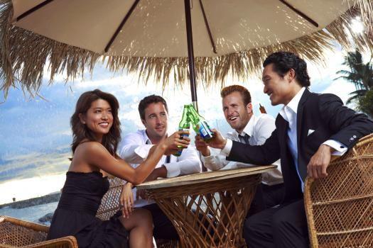 Hawaii Five-0 Grace Park (Kono), Alex O'Loughlin (Steve), Scott Caan (Danny) & Daniel Dae Kim (Chin)