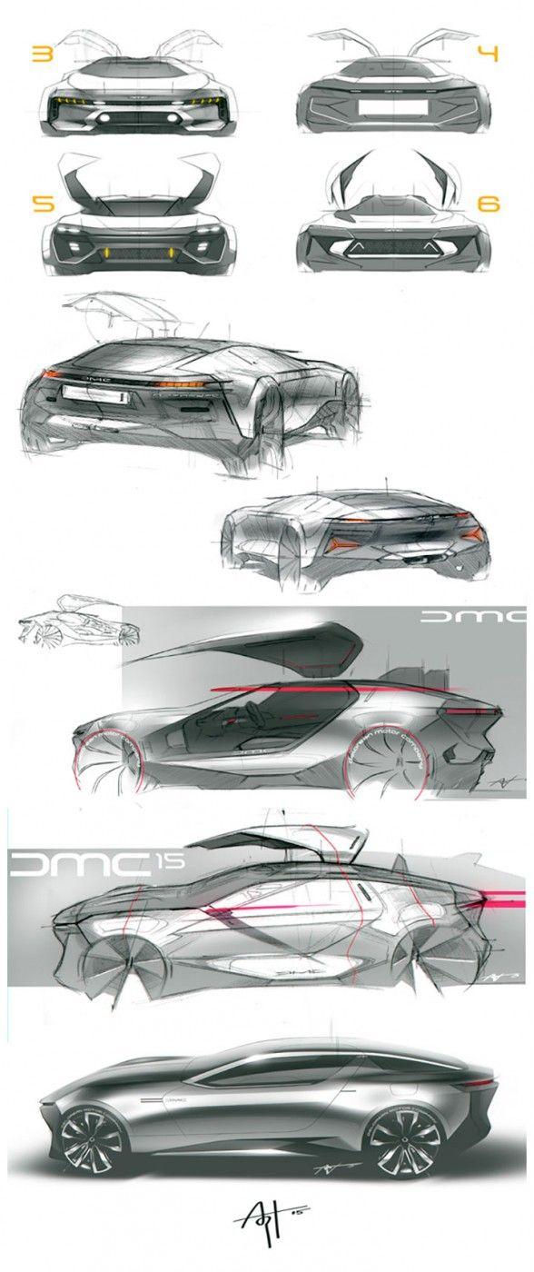 DeLorean Concept Design Sketches by Arthur Martins   Industrail ...
