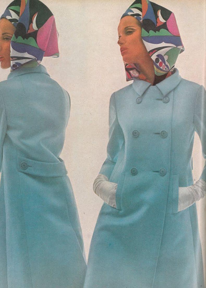 Vogue 1965 Veruschka by Bert Stern with silk Pucci scarf