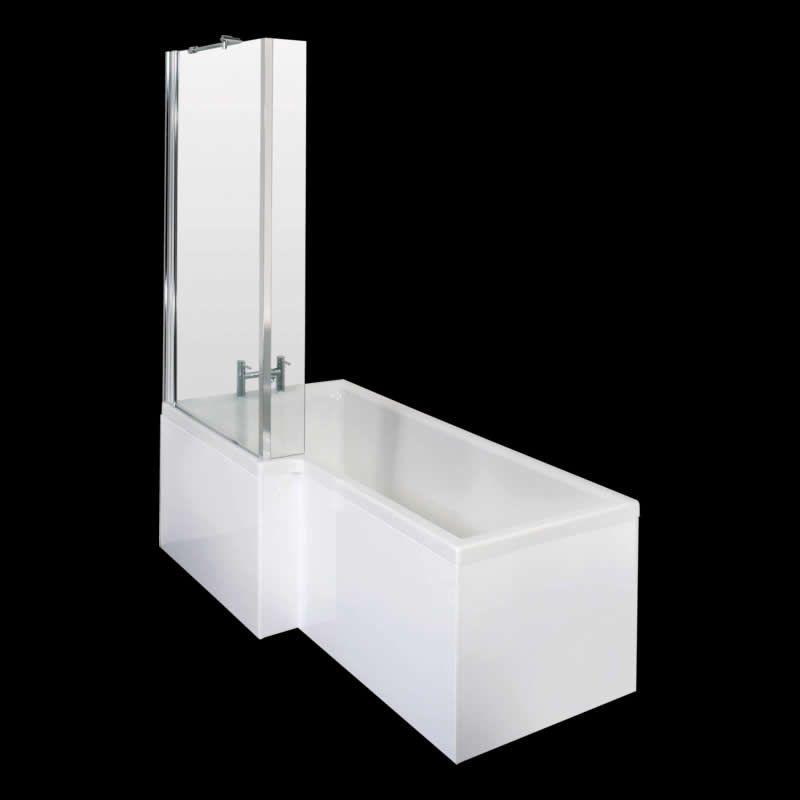 duschbadewanne linksbündig mit duschwand 850 x 1700 - image 1, Hause ideen