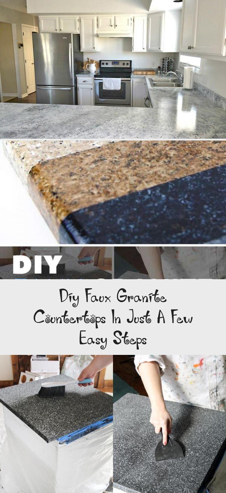Diy Faux Granite Countertops In Just A Few Easy Steps In 2020 Faux Granite Faux Granite Countertops Fake Granite Countertops