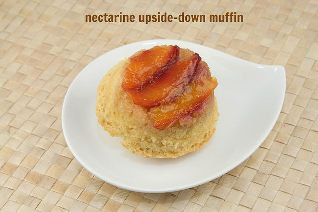 Nectarine Upside-Down Muffins by Food Librarian, via Flickr
