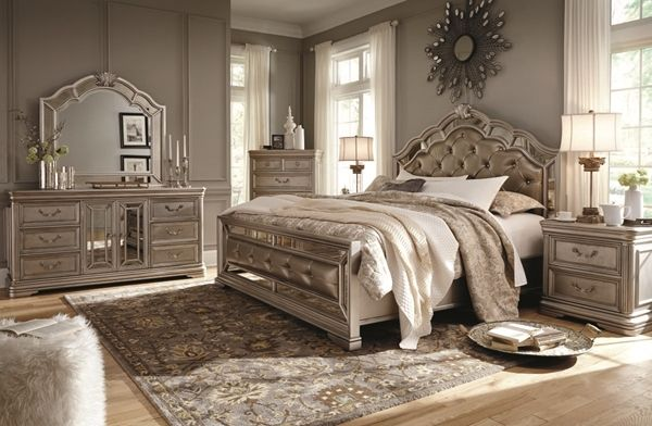 Picture of Birlanny 6-Piece King Upholstered Bedroom Set My Saves
