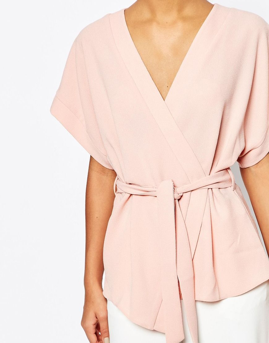 3969f0dbedded Image 3 of ASOS Obi Band Wrap Blouse