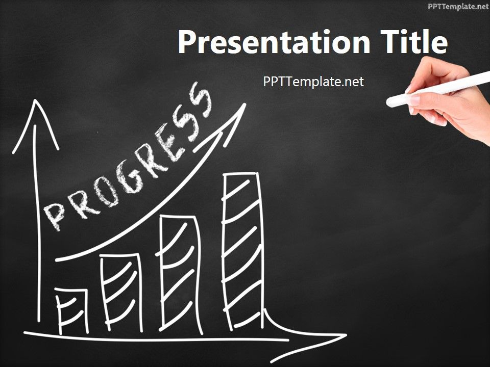 Free progress chalk hand black ppt template business ppt free progress chalk hand black ppt template is an analysis theme the master slide shows a chalk hand drawing a bar chart on the chalkboard toneelgroepblik Image collections