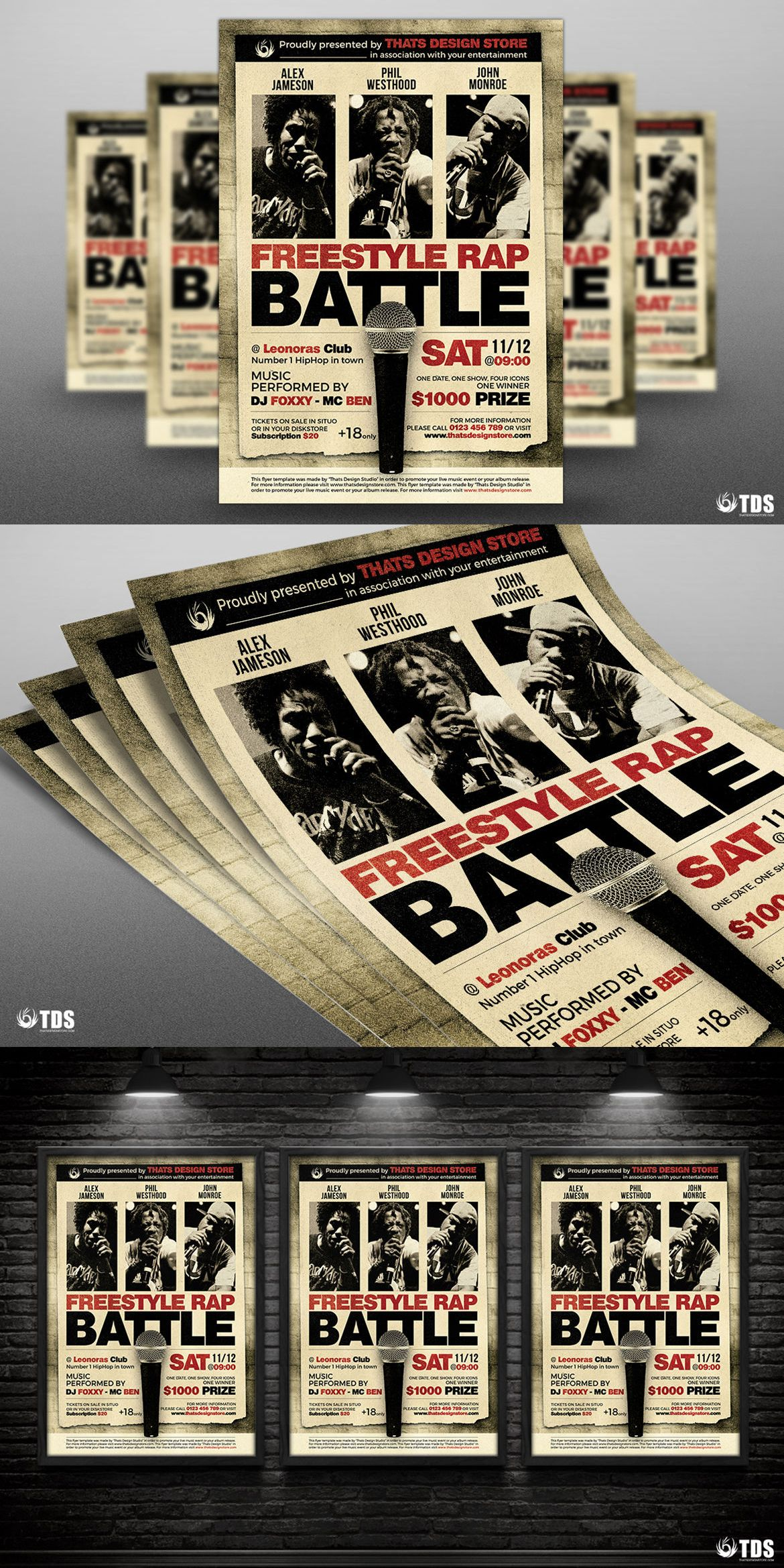 freestyle rap battle flyer template psd flyer templates