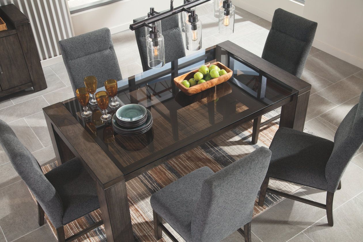 Chansey Dining Room Table   Glass top dining table, Dining room ...