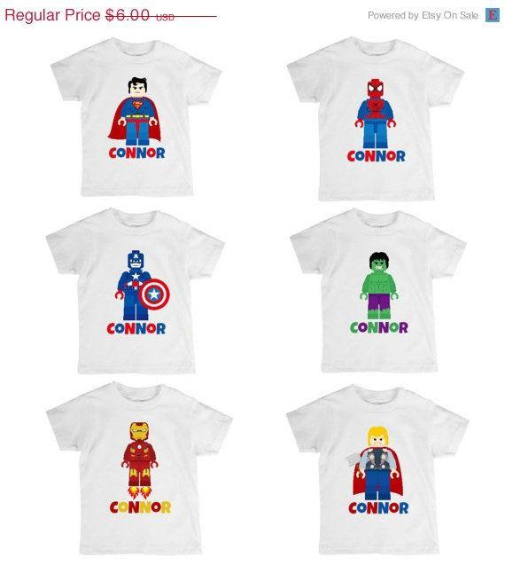 on sale diy iron on transfer design lego superheroes birthday legoland personalized t shirt printable