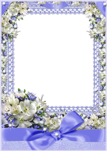 Синяя цветочная фоторамка | Рамки, Цветочная рамка ...