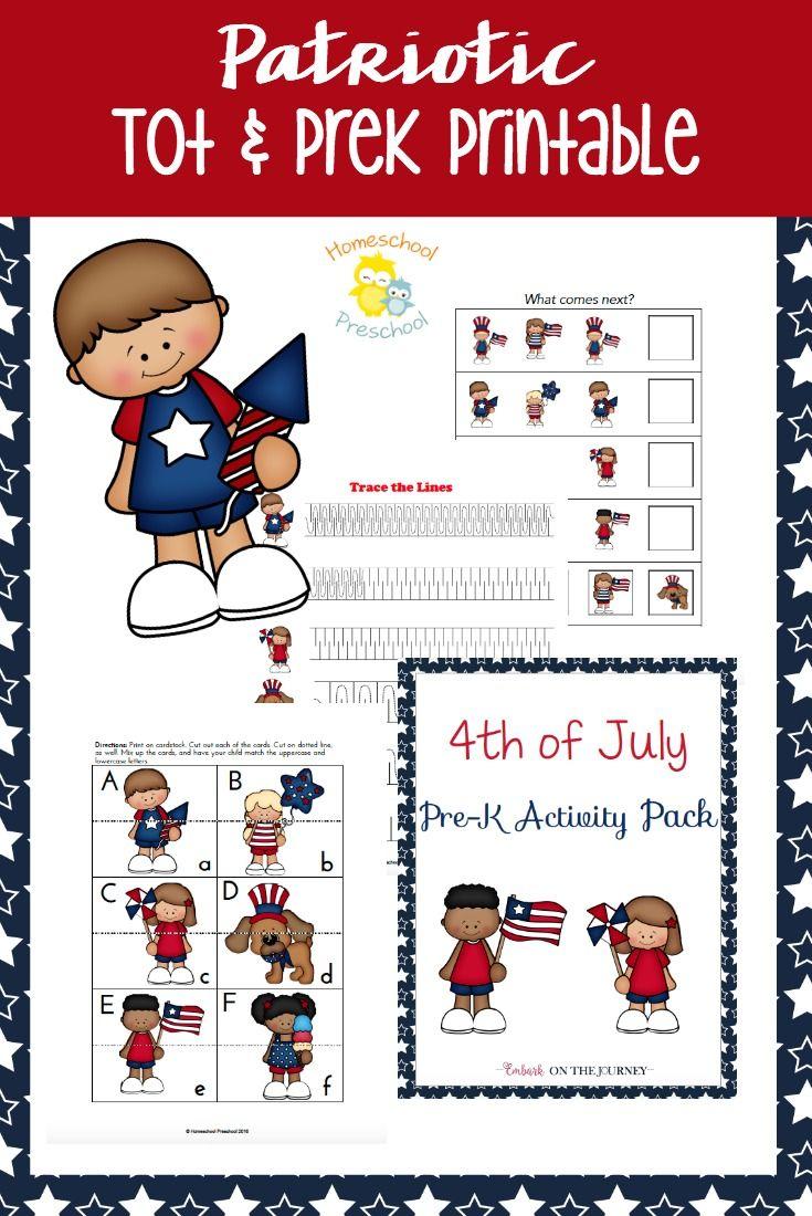 Patrioitic Printable For Tots And Preschoolers Pre K Activities Preschool Fun Homeschool [ 1100 x 735 Pixel ]