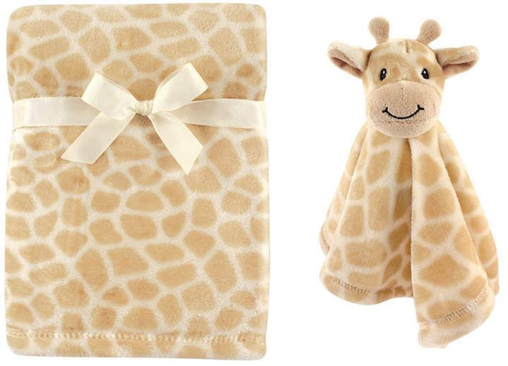 Hudson Baby Plush Blanket and Animal Security Blanket, 2-Piece Set, One Size #securityblankets