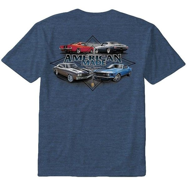 """Big & Tall Newport Blue """"American Made Street Supreme"""" Tee ($13) ❤ liked on Polyvore featuring men's fashion, men's clothing, men's shirts, men's t-shirts, blue other, mens short sleeve t shirts, mens leopard print t shirt, mens print shirts, mens patterned shirts and mens t shirts"""