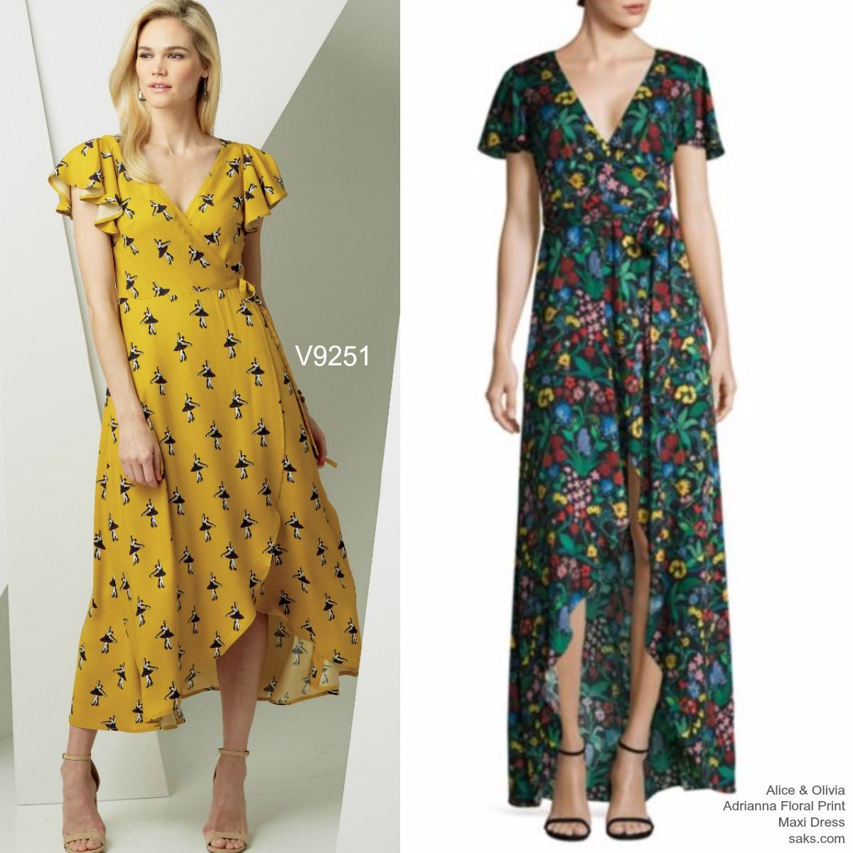 Sew the Look: Vogue Patterns V9251 long wrap dress sewing pattern ...