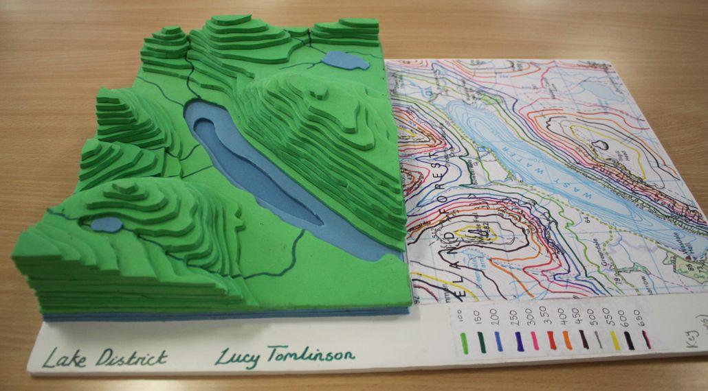 design a contour map 3D model