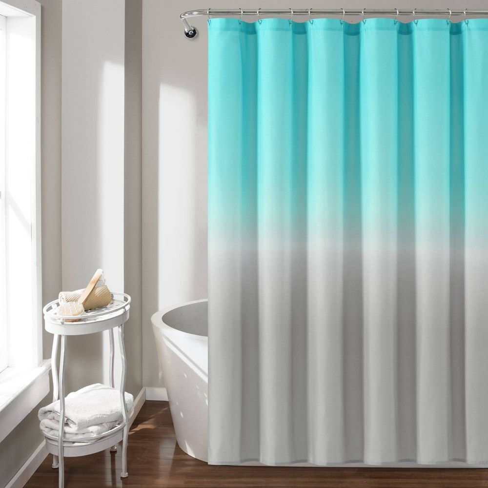 72 X72 Umbre Fiesta Shower Curtain Aqua Gray Lush Decor In 2020