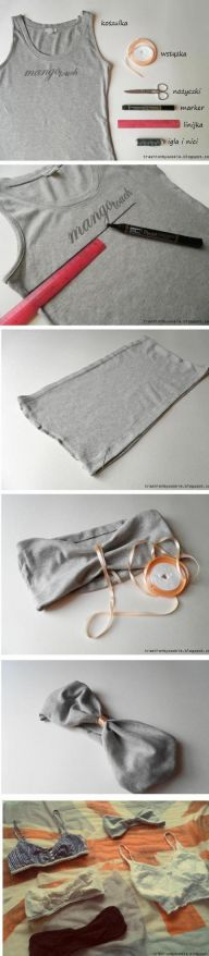 DIY bandeau bra | DIY | Pinterest | Bandeaus, So cute and Cropped tops