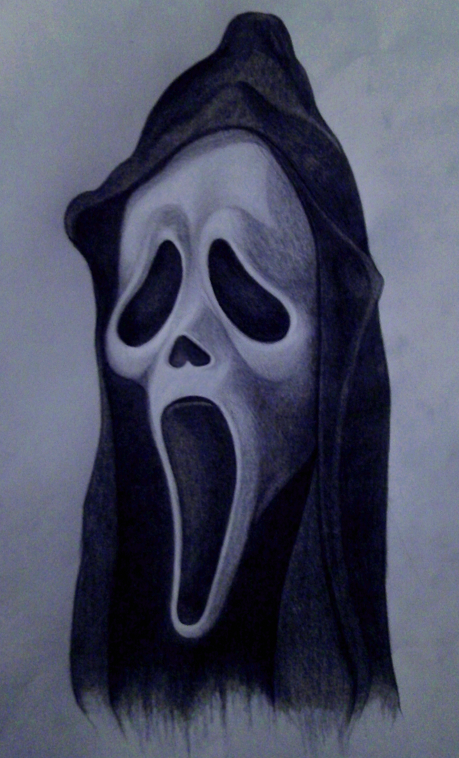 Scream Ghostface Mask Horror Drawing Scary Drawings Movie Character Tattoos