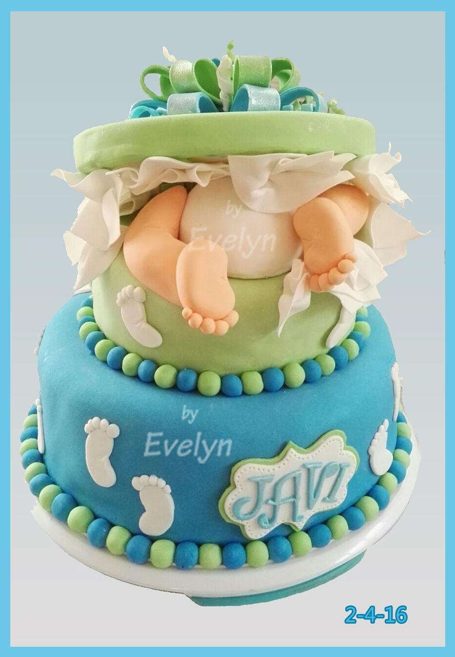 Pastel Baby Shower Niño Piecitos Y Nalguitas Baby Geburt Kuchen