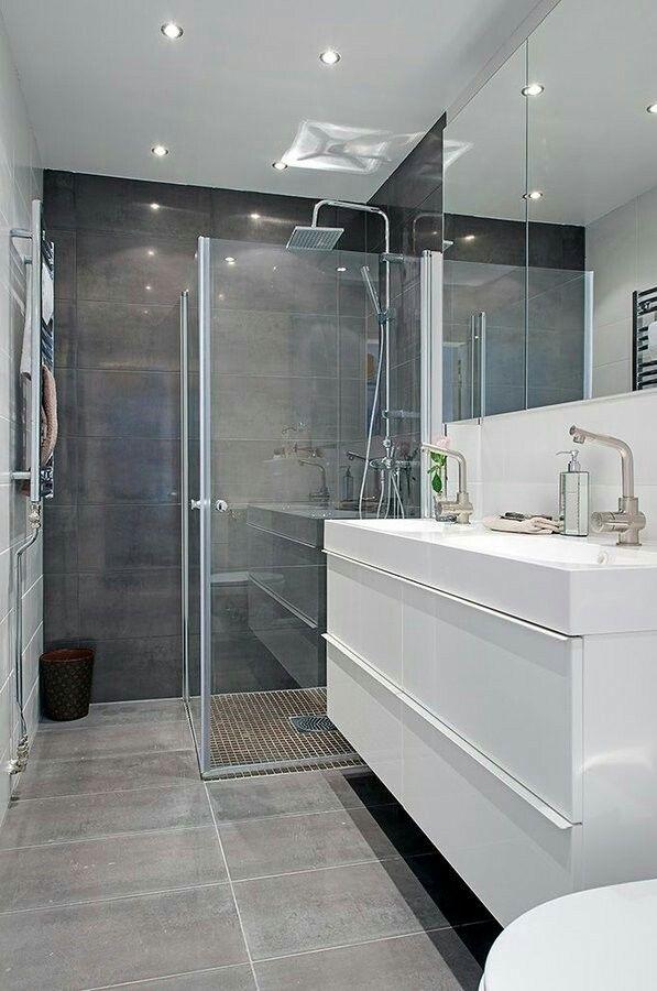 Exemple salle d\'eau | Salle de bains chics, Salle de bain ...