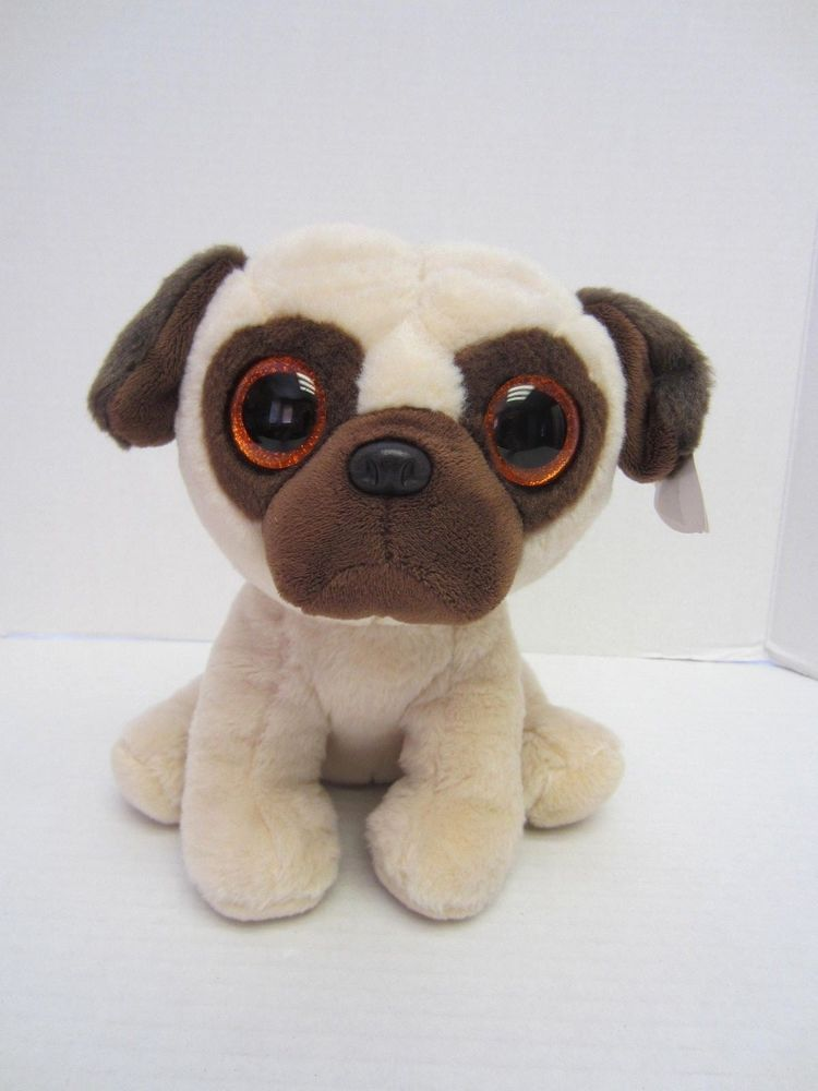 Ty Rufus Pug Dog Beanie Baby Plush 8