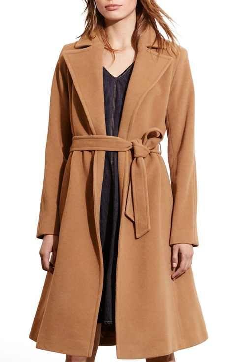 Lauren Ralph Lauren Wool Blend Wrap Coat (Regular & Petite ...
