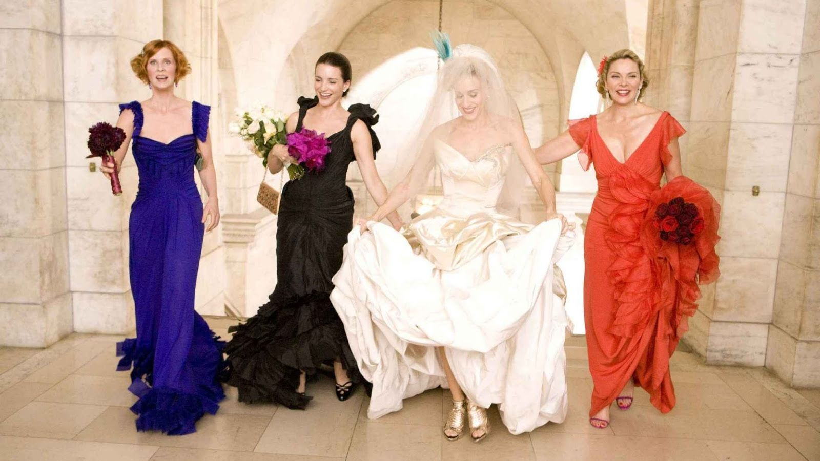 Image result for sex and the city wedding dresses