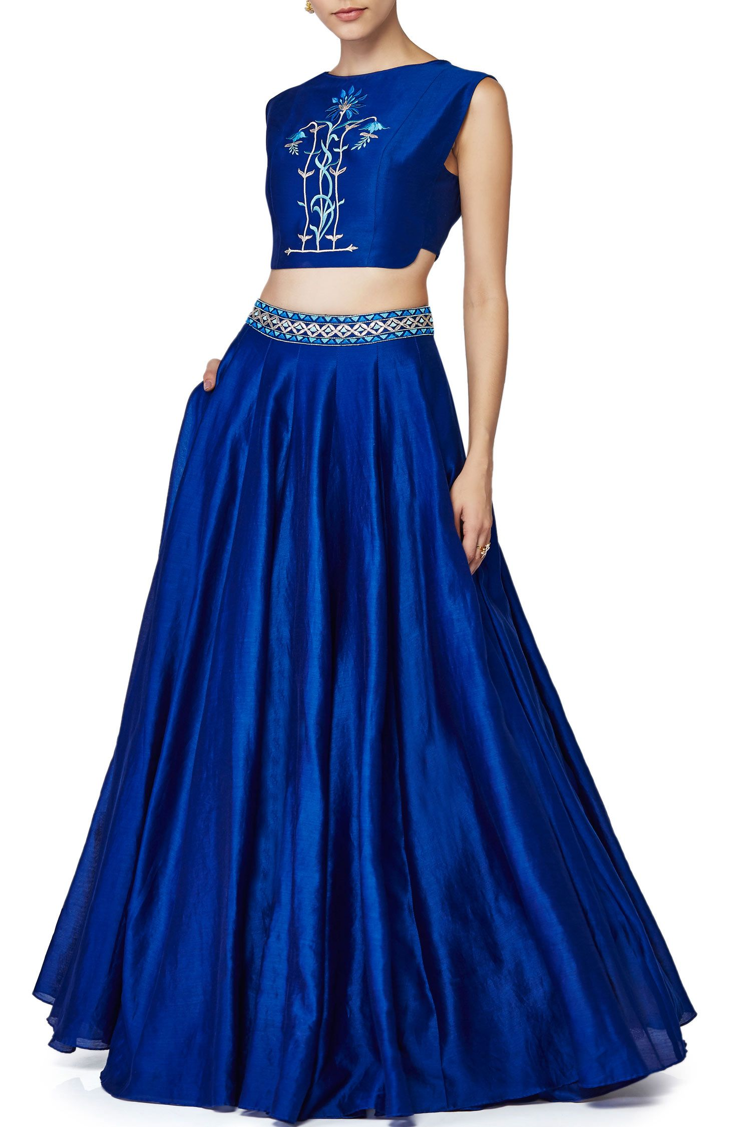 Anita dongre presents crop top and lehenga set indian for Indian wedding dresses for guests