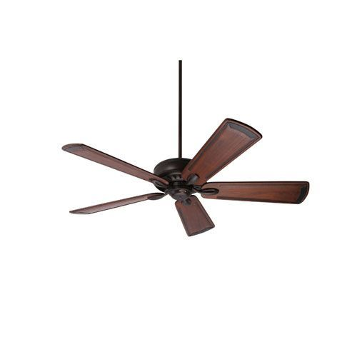 Avant Eco Oil Rubbed Bronze Energy Star EcoMotor 54-Inch Ceiling Fan with Walnut Art Deco Hand Carved Blades