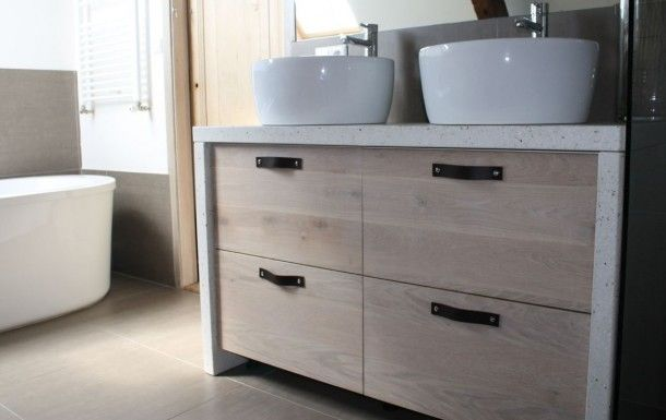 Keukens gemaakt door Koak Design met ikea kasten. | Badkamer meubel ...