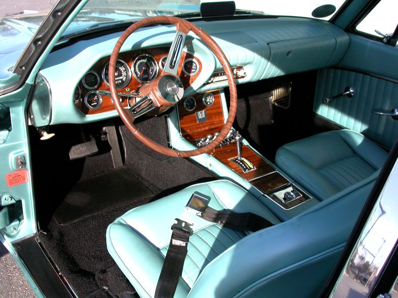 Freshly Redone Interior With Walnut Grain Dash And Wood Grain Sealed Steering Wheel Overlay Studebaker Avanti Auto Studebaker Steering Wheel Classic Cars