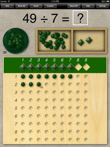 Montessori Division Board Montessori Math Montessori Activities Montessori Materials